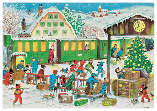 Christmas Train Station German Christmas Advent Calendar