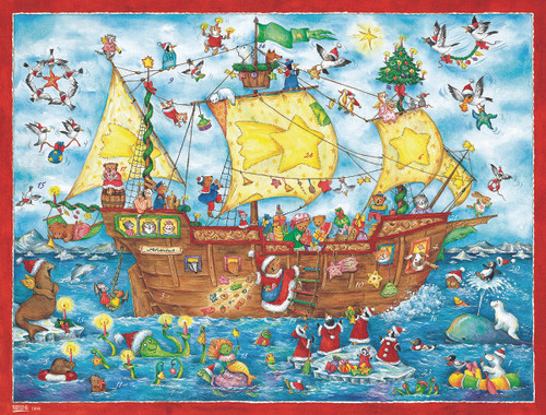 Christmas Ahoy Sailing Ship Extra Large German Advent Calendar