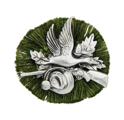 Duck Hunter German Rosette Hat Pin