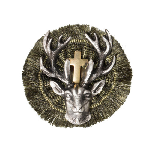 Hunters Stag German Rosette Hat Pin