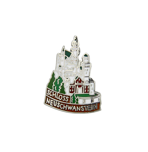 Neuschwanstein Enamel German Hat Pin
