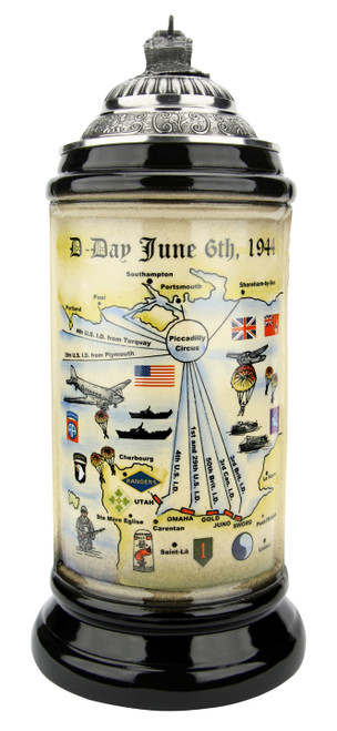 75 Years D Day Anniversary Beer Stein   Tank Lid