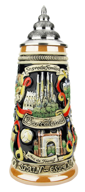 Barcelona Spain Beer Stein
