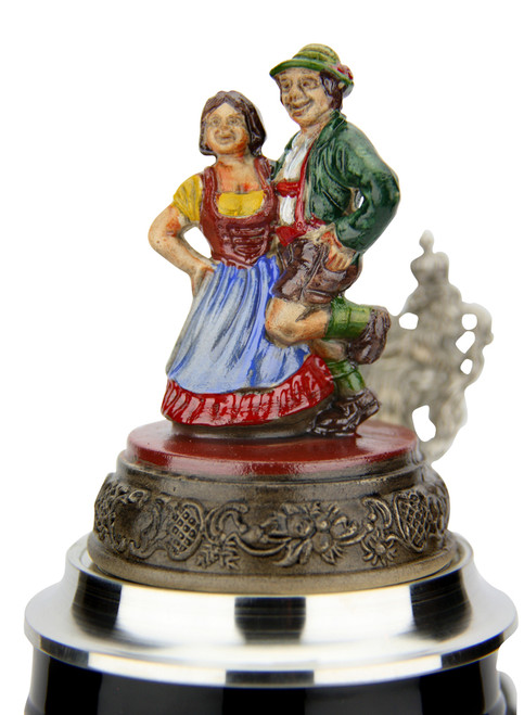 Alpine Romance Beer Stein 1 Liter | Dancing Couple Lid