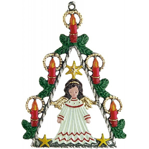 Angel Christmas Tree German Pewter Christmas Ornament
