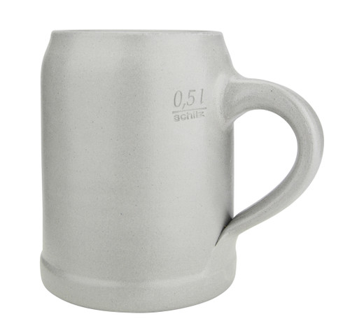German Stoneware Salt Glaze Beer Mug 0.5 Liter