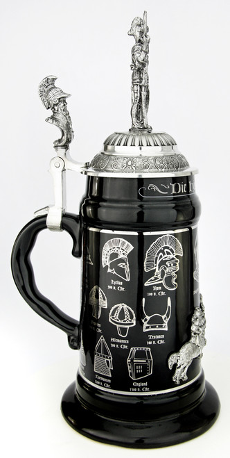 History of the German Helmet Beer Stein | Knight Lid