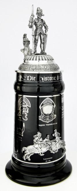 History of the German Helmet Beer Stein | Knight Lid