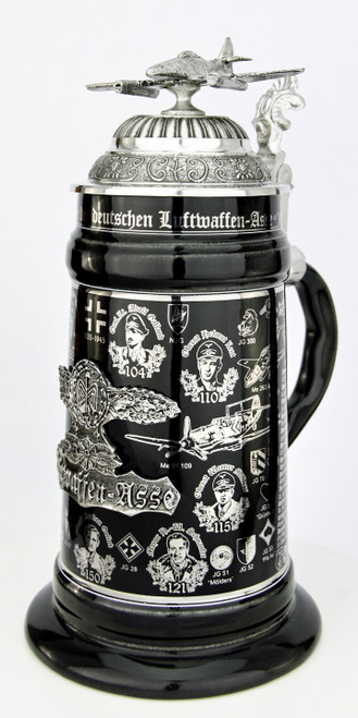 History of the Luftwaffe Aces Beer Stein