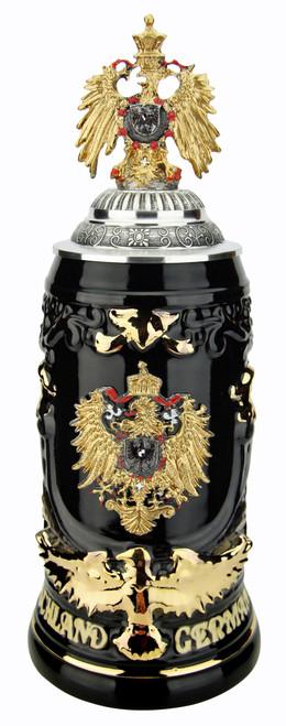 Deutschland Germany Eagle Beer Stein | Gilded Eagle Lid