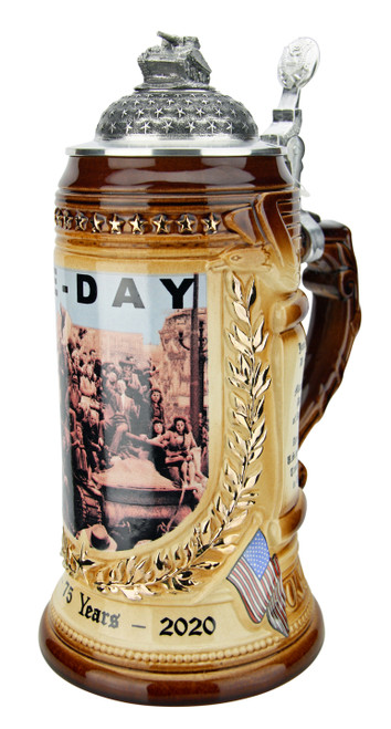 75 Years VE-Day Anniversary Beer Stein | Tank Lid