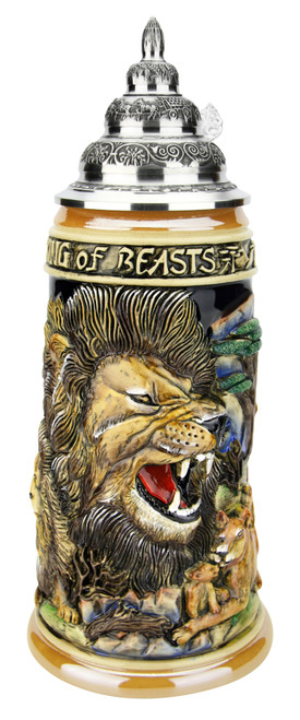 Lion King of Beasts Beer Stein