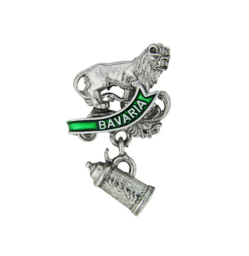 Bavaria Lion and Stein German Hat Pin