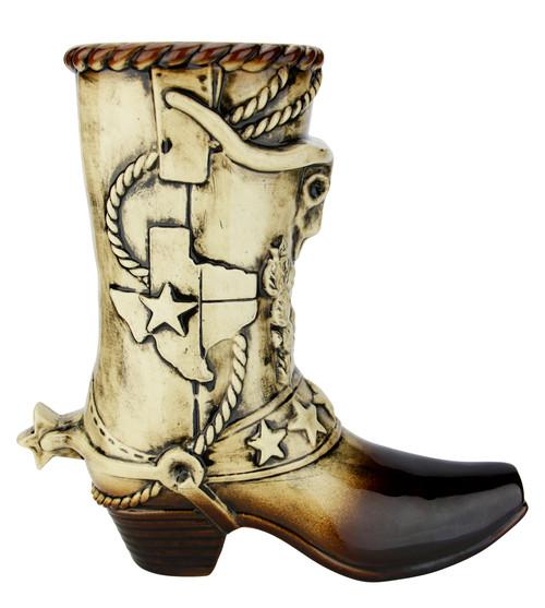 Texas Cowboy Beer Boot 1 Liter | Ceramic