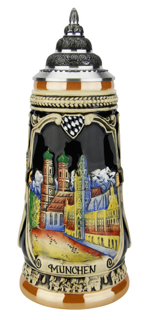 Portraits of Munich Hand Painted Beer Stein