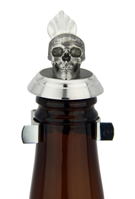 Skull Beer Stein Lid for Beer Bottles