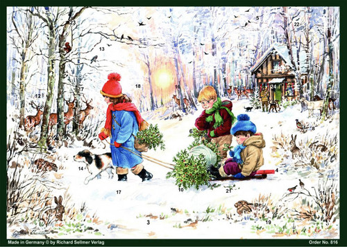 Winter Forest Hike German Christmas Advent Calendar