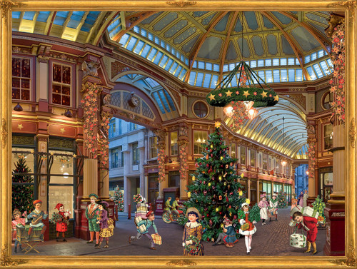 Victorian Christmas Shopping Mall German Advent Calendar