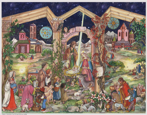 Holy Family German Christmas Advent Calendar