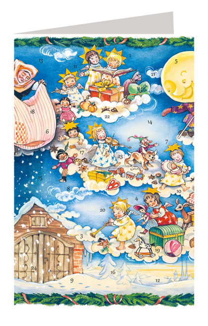 Mother Holle Grimm Fairy Tale German Advent Calendar Christmas Card