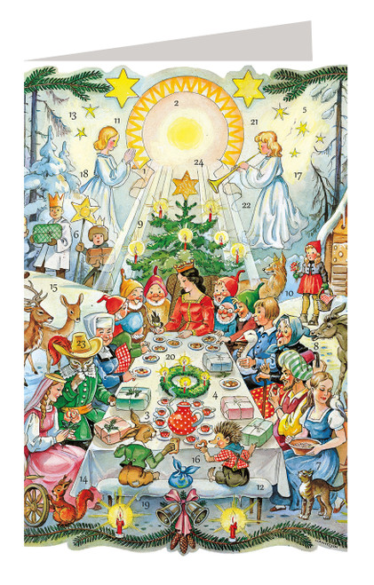 Once Upon a Time Fairy Tale German Advent Calendar Christmas Card