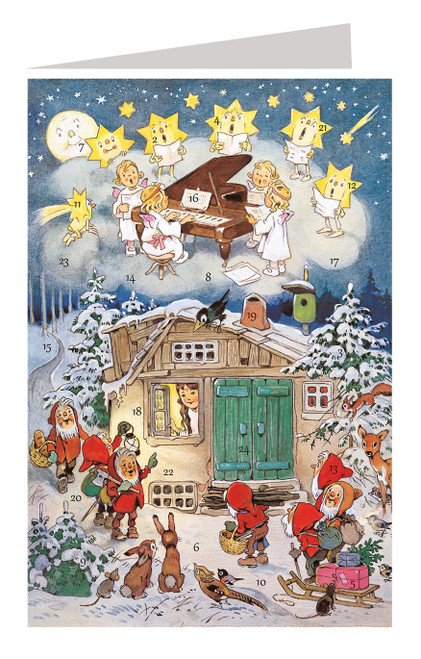Snow White German Advent Calendar Christmas Card