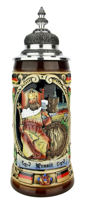 King Gambrinus Brewers Prosit Beer Stein