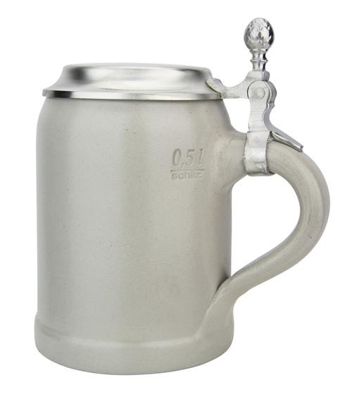 German Stoneware Salt Glaze Beer Stein 0.5 Liter