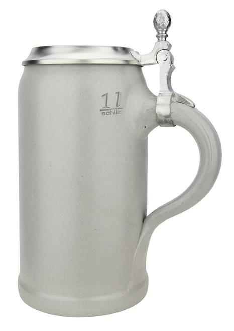 German Stoneware Salt Glaze Beer Stein 1 Liter