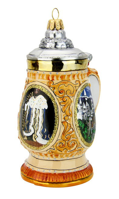 Neuschwanstein King Ludwig Beer Stein Glass Christmas Ornament