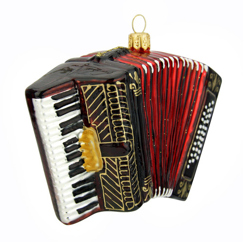 Accordion Glass Christmas Ornament