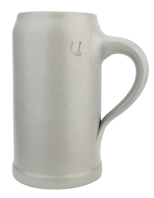 German Stoneware Salt Glaze Beer Mug 1 Liter