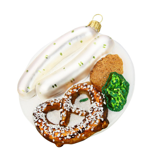Bavarian Breakfast Glass Christmas Ornament
