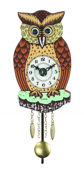 German Owl Mini Clock
