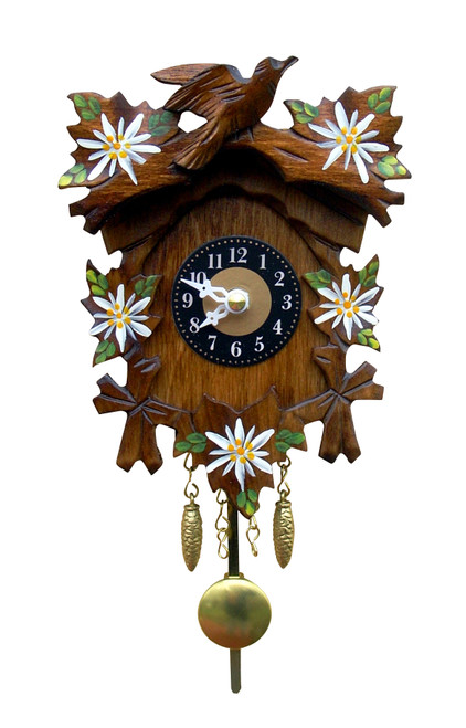 Edelweiss and Bird German Mini Clock | Musical