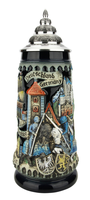 Deutschland Germany Jousting Knights Beer Stein