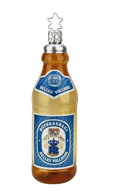 Hofbrauhaus HB Helles Vollbier Bottle Glass Christmas Ornament