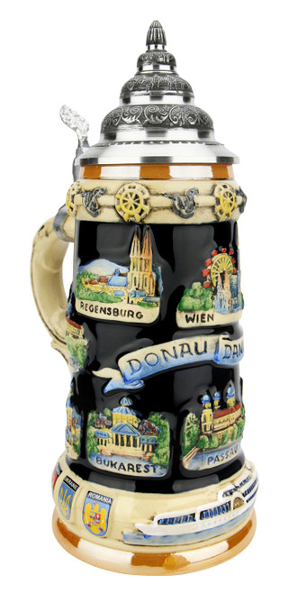 Danube River Commemorative Stein