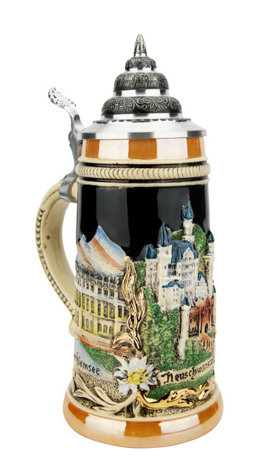 Neuschwanstein and Bavarian Castles Beer Stein | 0.25 Liter