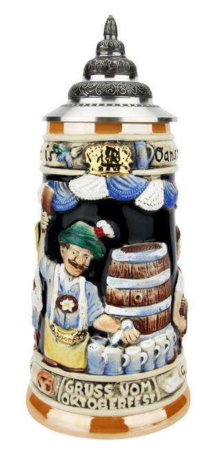 Gruss von Oktoberfest Prosit Beer Stein