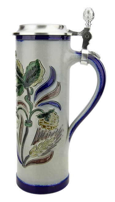 Hops and Leaves Pils Salt Glaze Stoneware Beer Stein | 0.4 Liter