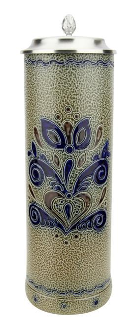 Stylized Design Pils Salt Glaze Stoneware Beer Stein | 0.4 Liter