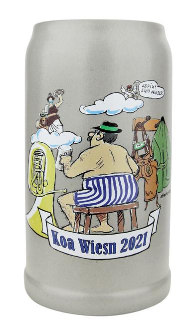 Official Munich Oktoberfest 2021 KOA Wiesnkrug Musicians Aid Salt Glaze Beer Mug