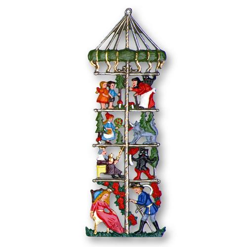 Fairy Tale Maypole German Pewter Christmas Ornament