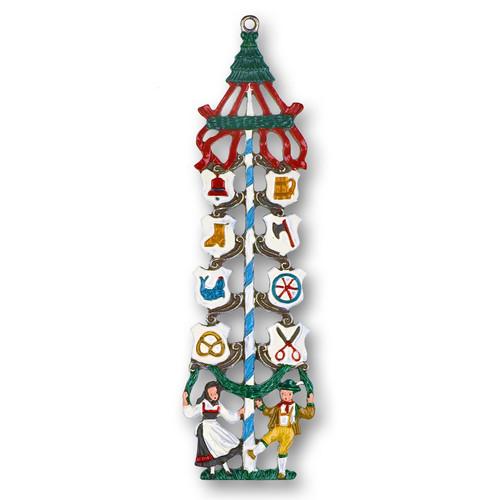 Maypole German Pewter Christmas Ornament