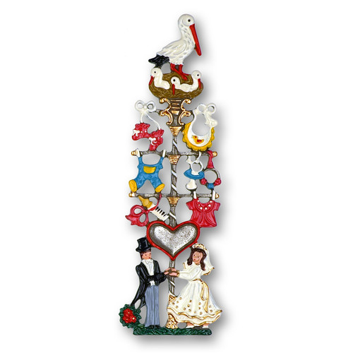 Wedding Maypole German Pewter Christmas Ornament