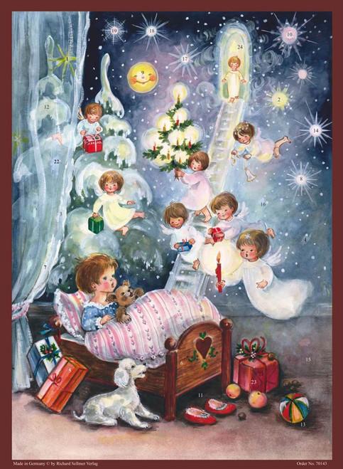 Dreaming of Angels German Christmas Paper Advent Calendar