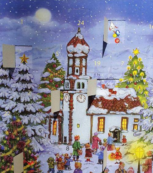Christmas Eve Alpine Chapel German Advent Calendar