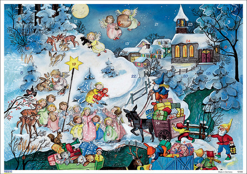 Angels and Gnomes Come to Town German Advent Calendar
