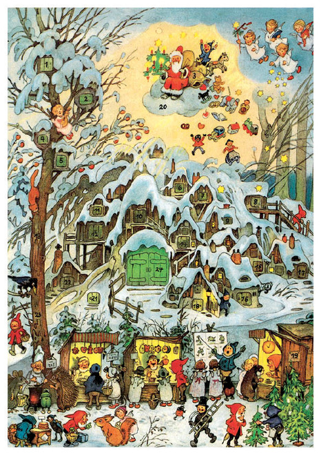 Christmas Market in the Forest German Advent Calendar